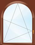 стоимость арочных окон из пвх