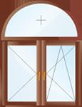 арочные окна пвх киев