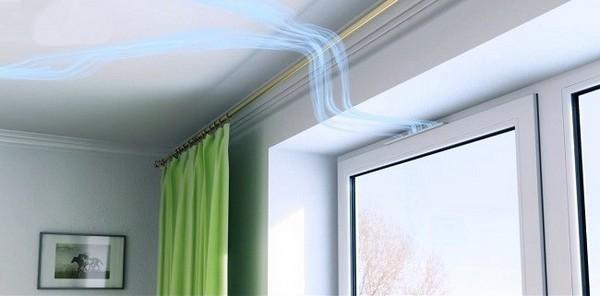 Вентиляция в пластиковых окнах