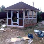 Остекление беседки пластиковыми окнами, С.Пуховка под Киевом