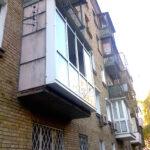 Французский балкон с выносом-расширением пола