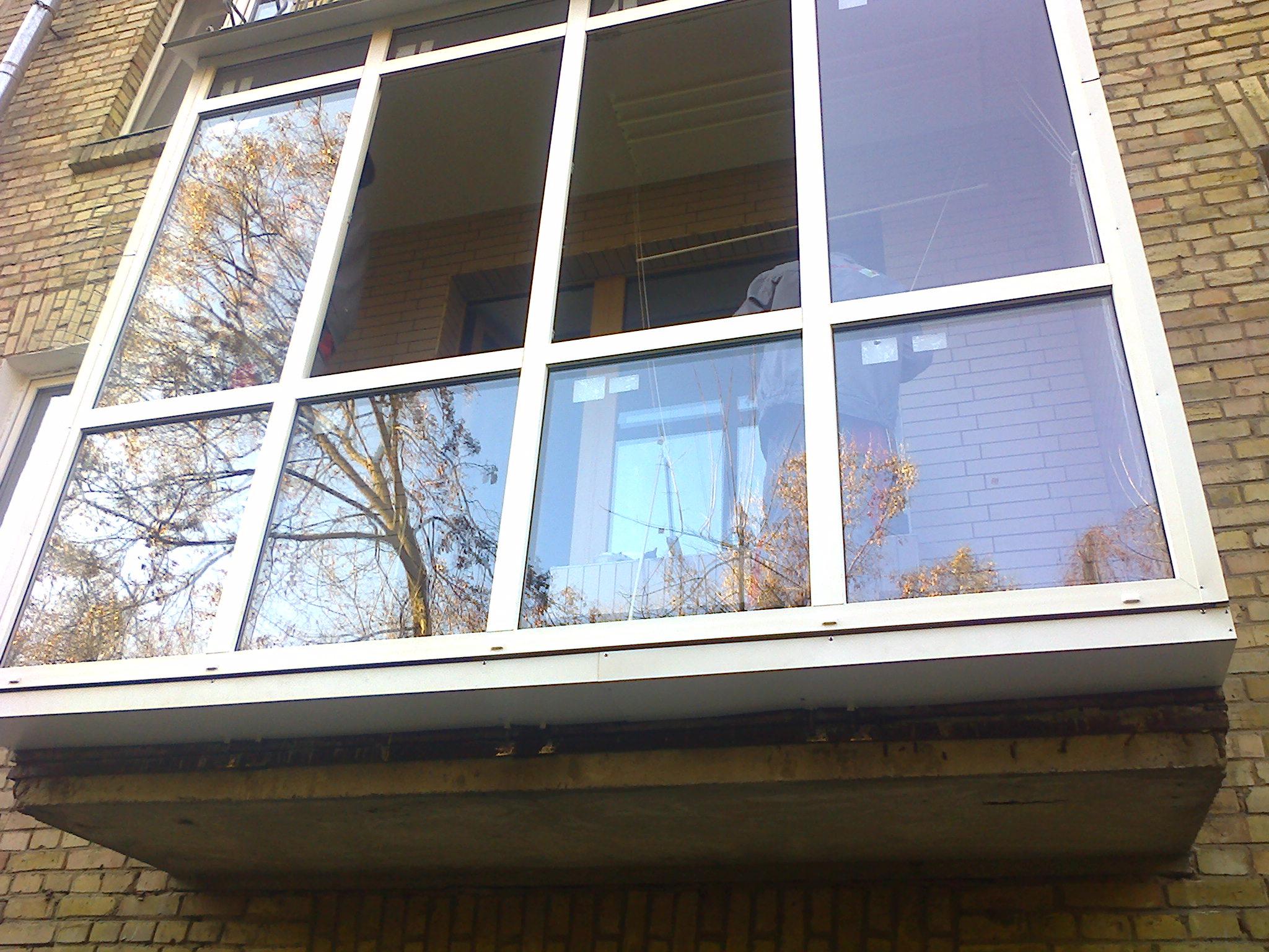 Остекление балконов/ лоджий под ключ фото. вынос балкона фот.