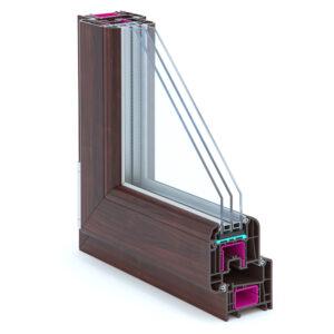 ламинированные окна для коттеджей