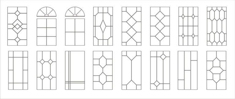 варианты рисунков шпросов в окнах
