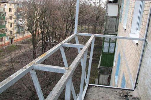 вынос балкона в киеве от пола