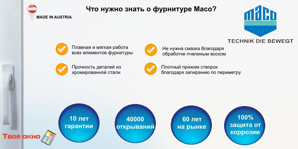 фурнитура maco multi trend для пластиковых окон