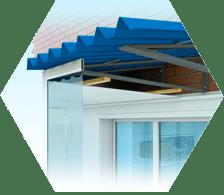 изготовление крыши на балконе